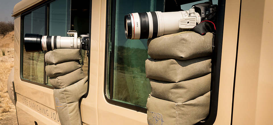 Fotografera med beanbag