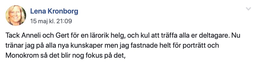 Fotokurs helg göteborg